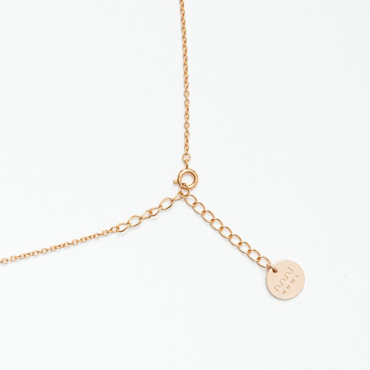 NUWL RIPPLE NECKLACE PINKGOLDの商品画像