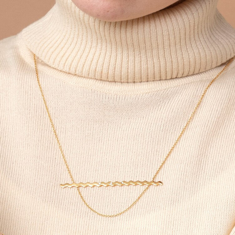 NUWL RIPPLE NECKLACE GOLD商品画像
