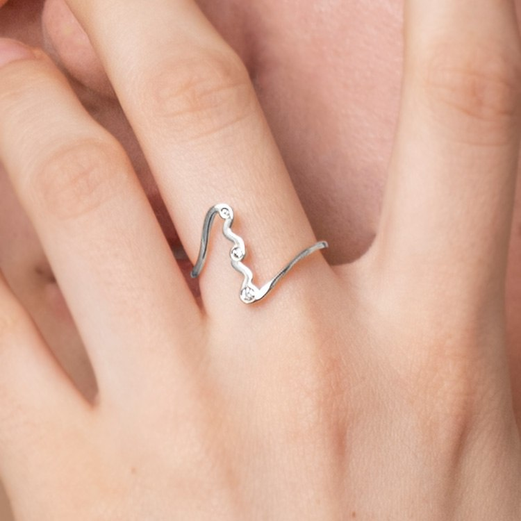 NUWL UNDULATE RING SILVERのサムネイル